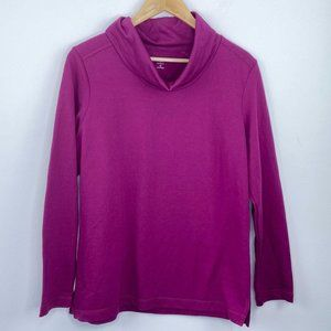 Karen Scott Sport Berry Funnel Neck Pullover M